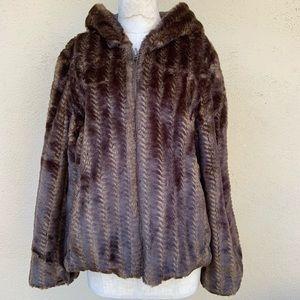 Reversible furry coat